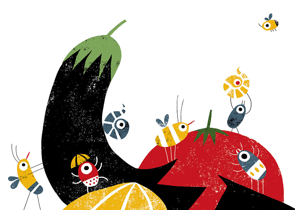 Cristina Martin vegetables illustration
